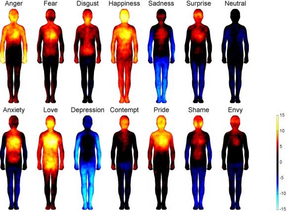 mappa emozioni nel corpo